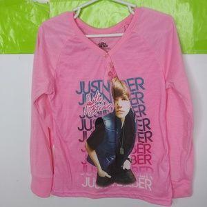 Justin Bieber Flame Resistant Henley Shirt